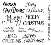 "set of inscriptions ""merry... 