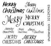 "set of inscriptions ""merry... | Shutterstock .eps vector #321292943"