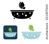 vector bath icon with bio... | Shutterstock .eps vector #321307043