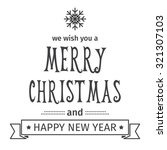 greeting card. merry christmas... | Shutterstock .eps vector #321307103