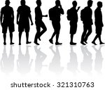 silhouette of a man . | Shutterstock .eps vector #321310763
