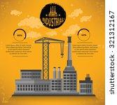 construction industry design on ... | Shutterstock .eps vector #321312167