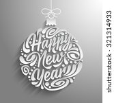 happy new year | Shutterstock .eps vector #321314933