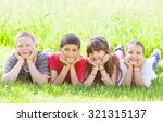 cute children smiling in nature.... | Shutterstock . vector #321315137