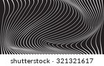black and white mobious wave... | Shutterstock .eps vector #321321617