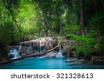 jungle landscape with flowing... | Shutterstock . vector #321328613