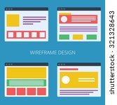 set of vector flat web sites...