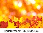 fall  autumn  leaves background.... | Shutterstock . vector #321336353
