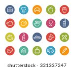 food icons   set 1 of 2   ... | Shutterstock .eps vector #321337247