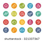 food icons   set 2 of 2   ... | Shutterstock .eps vector #321337367
