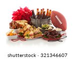 football  game day food and... | Shutterstock . vector #321346607