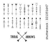 set of hipster tribal arrows... | Shutterstock .eps vector #321351647