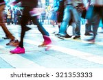 blurred image of people moving... | Shutterstock . vector #321353333