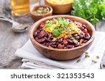 vegetarian chili with red and... | Shutterstock . vector #321353543