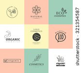 collection of cosmetics logo... | Shutterstock . vector #321354587