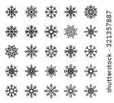 snowflake vector symbol graphic ... | Shutterstock .eps vector #321357887