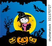 beautiful witch.halloween ... | Shutterstock .eps vector #321370727