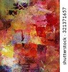abstract mixed media artwork on ... | Shutterstock . vector #321371657