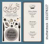 food menu design  with... | Shutterstock .eps vector #321378227