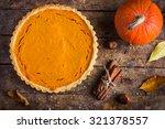 Pumpkin Tart  On Rustic...