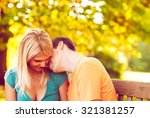 young couple enjoying in the... | Shutterstock . vector #321381257