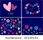 collection love cards | Shutterstock .eps vector #32139133