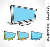 Cartoon Color Icons Of Plasma...