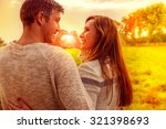 autumn fall lovers together... | Shutterstock . vector #321398693