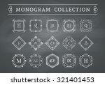 vintage monogram set on... | Shutterstock .eps vector #321401453