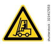 forklift truck sign. symbol of... | Shutterstock .eps vector #321417053
