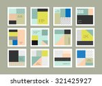 collection of universal cards.... | Shutterstock .eps vector #321425927