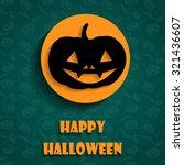 halloween flat pumpkin icons  | Shutterstock .eps vector #321436607