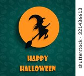 halloween flat witch icons  | Shutterstock .eps vector #321436613