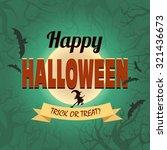 happy halloween banner. vector... | Shutterstock .eps vector #321436673