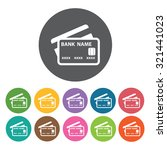 credit cards icon  hotel set.... | Shutterstock .eps vector #321441023