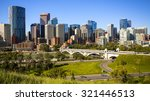 downtown calgary skyline during ... | Shutterstock . vector #321446513