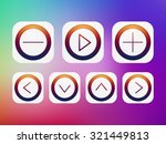 isolated app icon set on color...