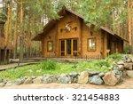wooden house in the woods   Shutterstock . vector #321454883