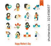 happy mothers day simple flat... | Shutterstock .eps vector #321458057