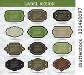 set retro business labels.... | Shutterstock .eps vector #321460097