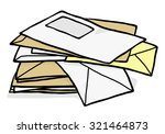 pile of used envelope   cartoon ... | Shutterstock .eps vector #321464873