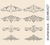 vector design elements set.... | Shutterstock .eps vector #321481427