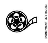 film reel icon | Shutterstock .eps vector #321482003