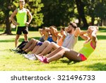 fitness  sport  friendship and... | Shutterstock . vector #321496733