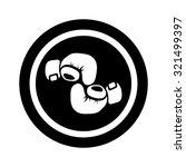 boxing gloves icon   Shutterstock .eps vector #321499397