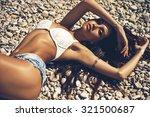 outdoor fashion portrait of... | Shutterstock . vector #321500687