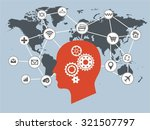 internet of things and thinking ... | Shutterstock .eps vector #321507797