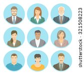 business people vector flat... | Shutterstock .eps vector #321508223
