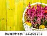 heather flowers in basket... | Shutterstock . vector #321508943