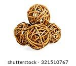 Brown Color Wicker Balls Or...